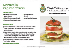 Mozzarella Caprese Towers