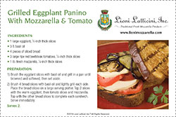 Grilled Eggplant Panino With Mozzarella and Tomato