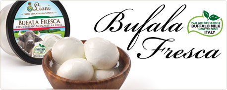 An Authentic Italian Fresh Mozzarella Made with Buffalo Milk Imported from Campania, italy