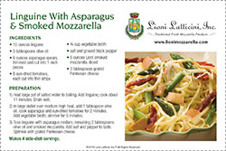 Linguine With Asparagus & Smoked Mozzarella