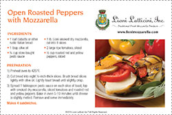 Open Roasted Peppers with Mozzarella