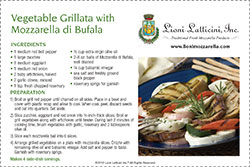 Vegetable Grillata with Mozzarella di Bufala